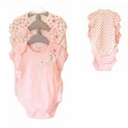 BABALUNO Baby Bodys für Mädchen im 3-er Set